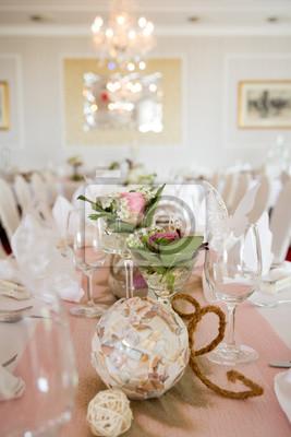 zdobione tabeli ślubu