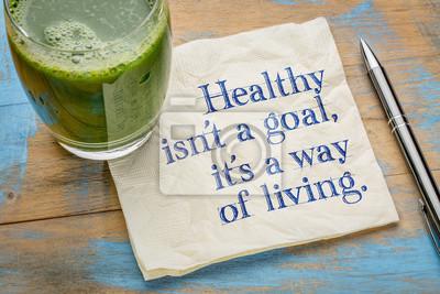 Naklejka Zdrowe to sposób na życie