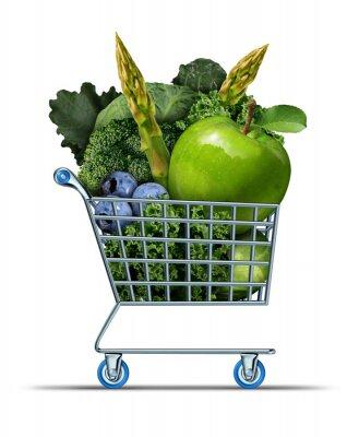 Naklejka Zdrowe zakupy