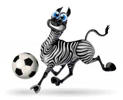 Naklejka zebra con pallone