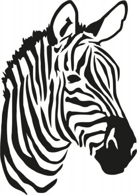 Naklejka Zebra głowy