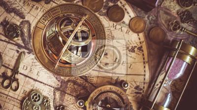 Naklejka Zegar Zegarowy Zodiaku Astrologia Sferyczna