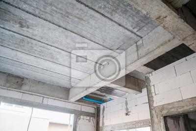 Naklejka żelbetowe płyty budynku mieszkalnego w trakcie budowy