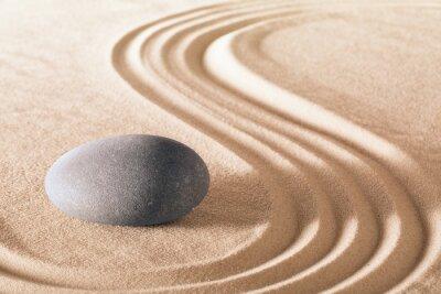Naklejka Zen kamień ogrodowy