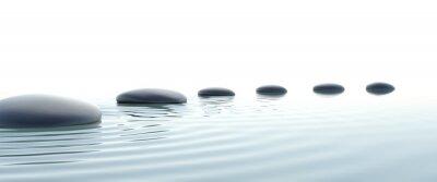 Naklejka Zen ścieżka z kamieni w widescreen