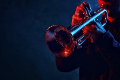 Naklejka Zespół jazzowy występuje w klubie