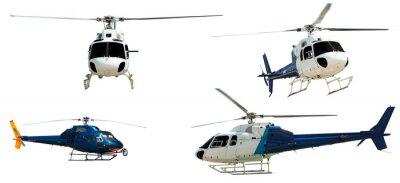 Naklejka Zestaw Helicopters. Pojedynczo na białym