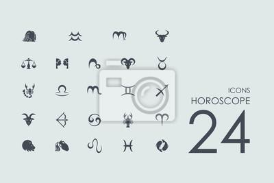 Naklejka Zestaw ikon Horoskop