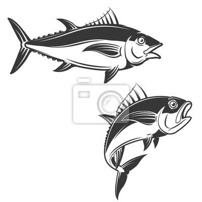 Zestaw ikon tuńczyka