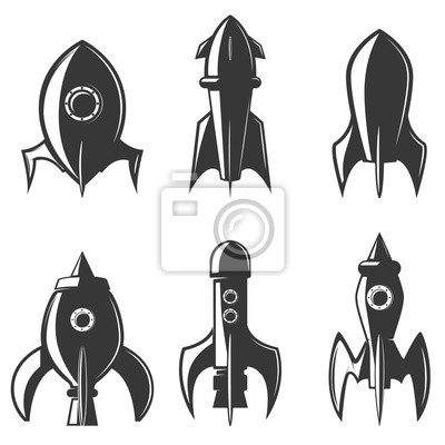 Zestaw rakiet ikon. element projektu do logo, etykiety, emblemat