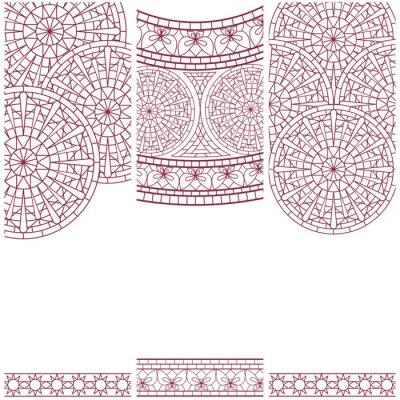 Naklejka Zestaw transparenty z mozaiki ozdoba