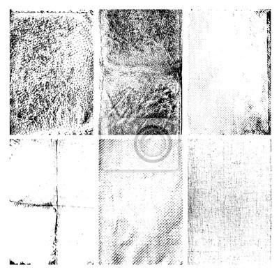 Zestaw wektora grunge tekstury na białym tle.