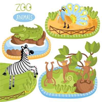 Naklejka Zestaw zwierząt