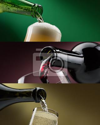 Zestawy bankietów napojów alkoholowych