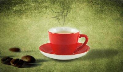 Naklejka zielona kawa