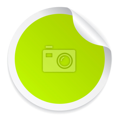 7d70cf71ea8775 Naklejka Zielona kolorowe okrągłe naklejki na wymiar • transparent ...