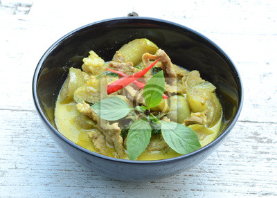 Zielone Curry Wieprzowina Kuchnia Tajska Naklejki Redro