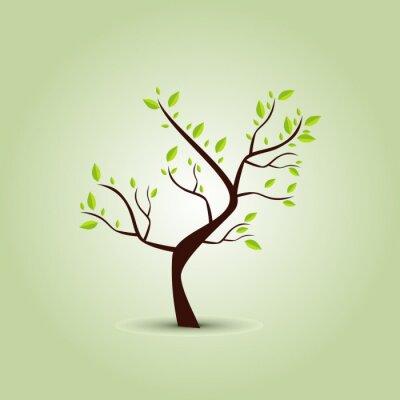 Naklejka Zielone drzewa w tle