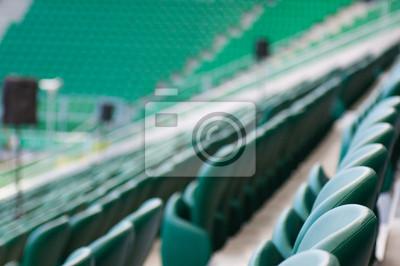 Naklejka zielone pustych miejsc na stadionie