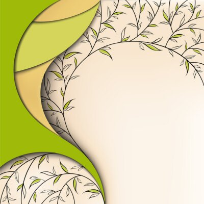 Naklejka Zielony charakter tle kwiatów
