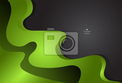 Zielony i czarny abstrakcyjne projektowania materiałów dla tła