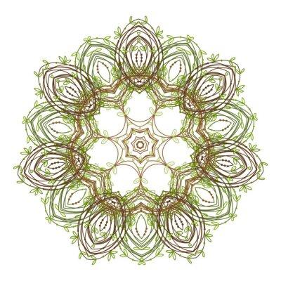 Naklejka Zielony liść wzór dla projektu