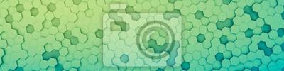 Naklejka zielony sześciokąt tło