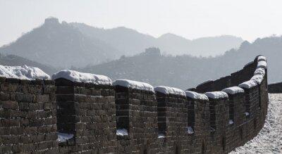 Naklejka Zima na Wielki Mur Chiński