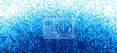 Naklejka Zima niebieski lód mrozu tle