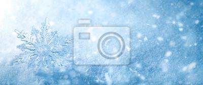 Naklejka Zimowe śniegu tła