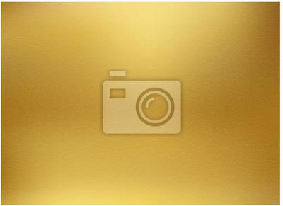 Naklejka Złote tło, złoty polerowany metal, stalowe tekstury