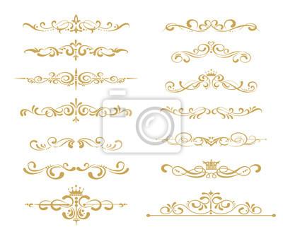 Naklejka Złoty elementem wektora