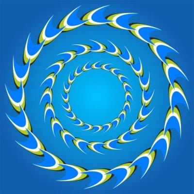 Naklejka złudzenie optyczne krąg ogony