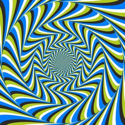 Naklejka złudzenie optyczne wirować w lewo