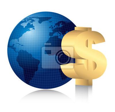 Naklejka Znak dolara