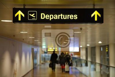 Naklejka Znak na lotnisko odloty