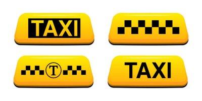 Naklejka Znak taksówką