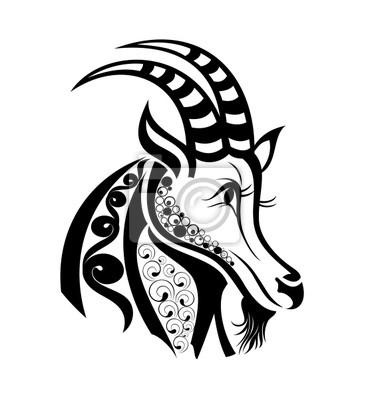 Naklejka Znaki Zodiaku Koziorożec Projekt Tatuażu 14301498