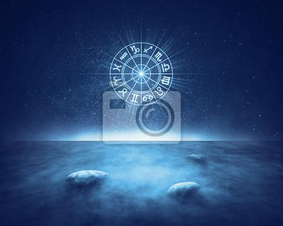 Naklejka Znaków zodiaku horoskop krajobraz