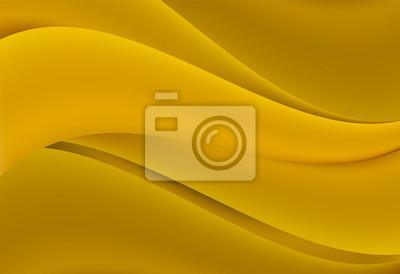 Żółta abstrakta krzywa i falisty wektorowy tło