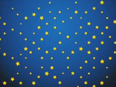 Naklejka żółta gwiazda na niebieskim tle