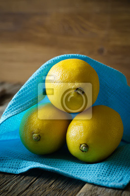 Naklejka żółte cytryny