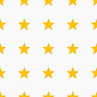 Naklejka Żółte gwiazdy wzór tła