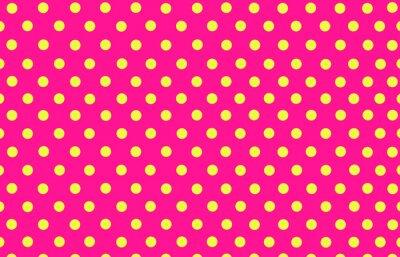 Naklejka żółte kropki z różowym tle