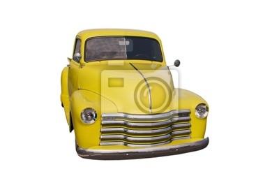żółty retro pickup