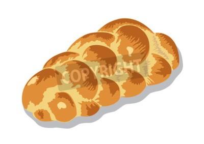 Naklejka zopf lub chała chleb