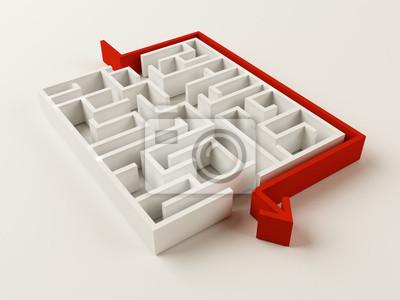Naklejka Zrobione Maze puzzle