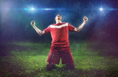 Naklejka Zwycięski Piłkarz