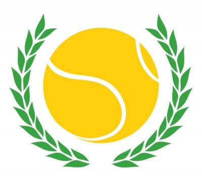 Naklejka Zwycięzca tenis