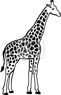 Naklejka Żyrafa sylwetka wzór